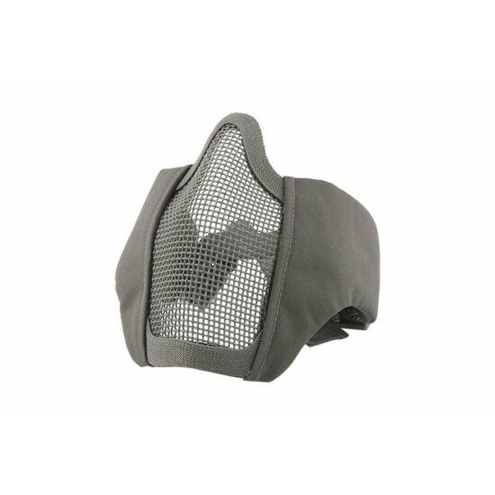 Stalker EVO rácsos arcmaszk, szürke FAST helmet szerelékkel