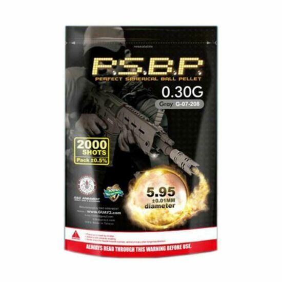 G&G P.S.B.P. precíziós BB golyó, 0.30g, 2000 db