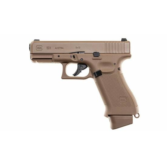 Glock 19X FDE CO2 GBB airsoft pisztoly