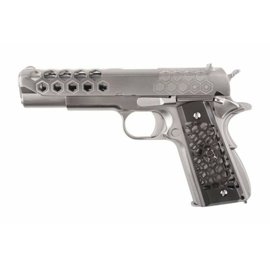 Colt 1911 Hexcut silver, GBB airsoft pisztoly