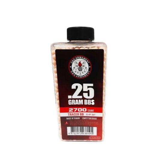 G&G preciziós Tracer BB 0.25 g 2700 db Vörös