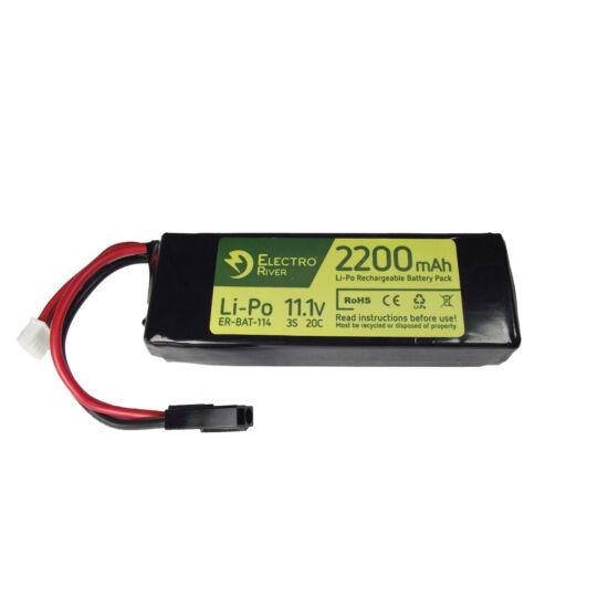 Electro River LiPo akkumulátor 11.1V 2200 mAh Tamiya