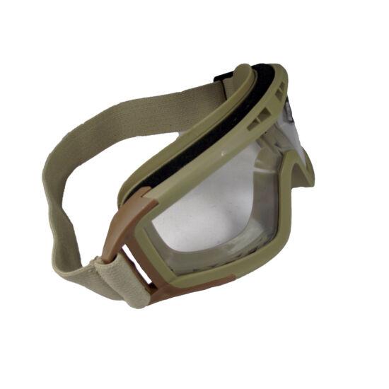 GFC pántos védőszemüveg sisakhoz, tan, víztiszta