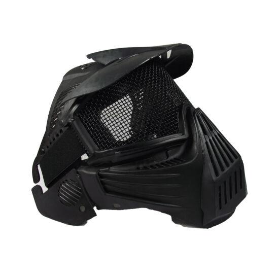 Guardian V1 arcvédő maszk árnyékolóval, fekete