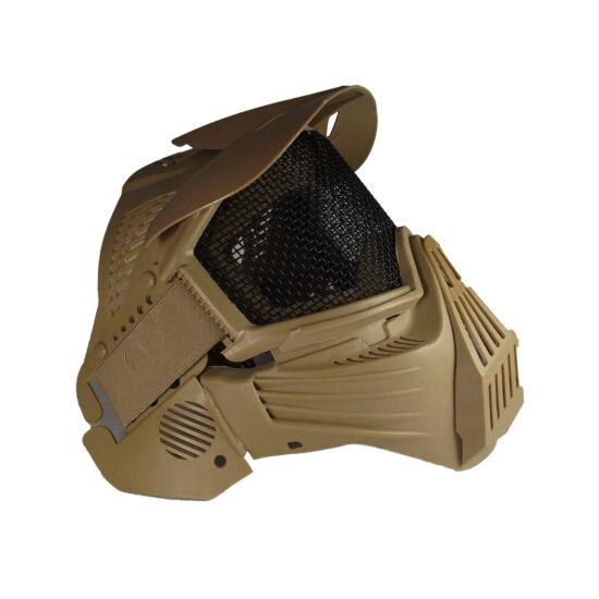Guardian V1 arcvédő maszk árnyékolóval, tan