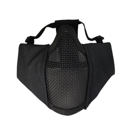 EVO plus védőmaszk, fülvédővel, fekete