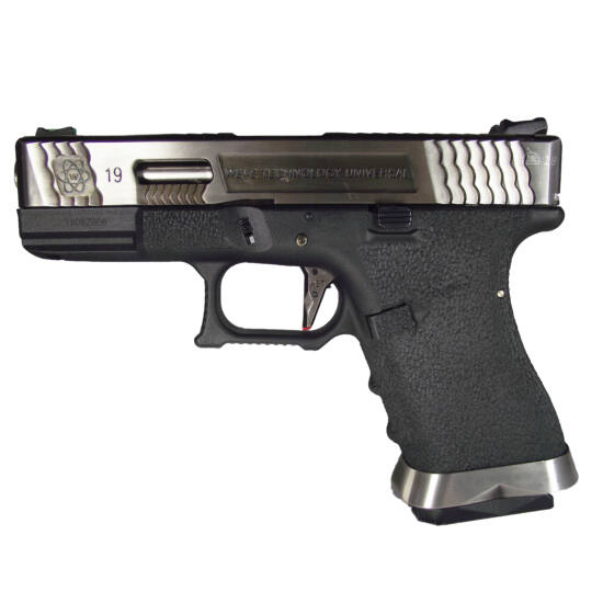 WE Glock 19 Force GBB airsoft pisztoly Fekete