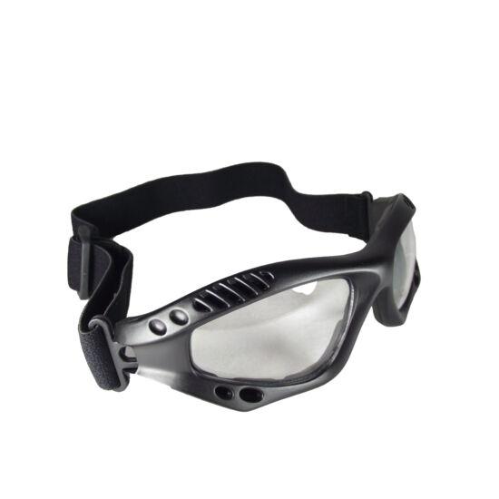 Mil-tec Védőszemüveg fekete keret, víztiszta lencse