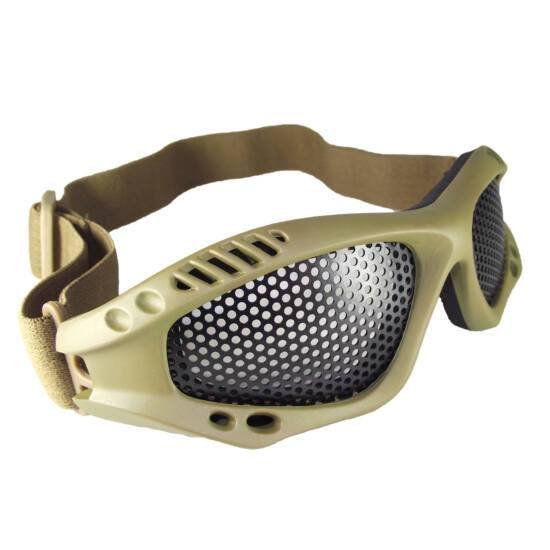 Mil-tec Védőszemüveg Coyote keret rácsos lencse