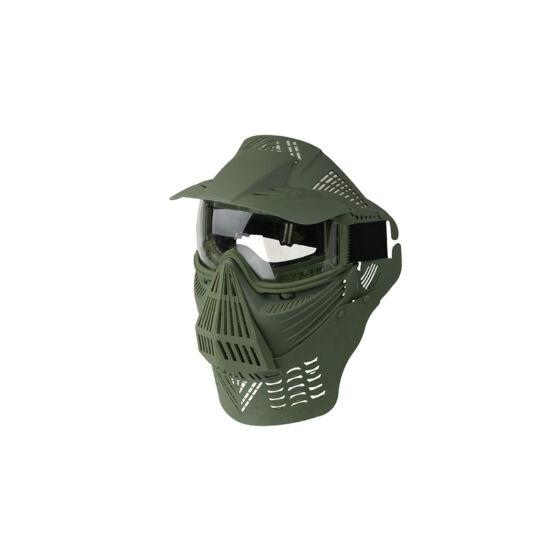 Guardian V4 arcvédő maszk árnyékolóval, olív