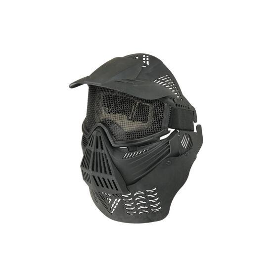 Guardian V4 arcvédő maszk árnyékolóval, fekete, rácsos