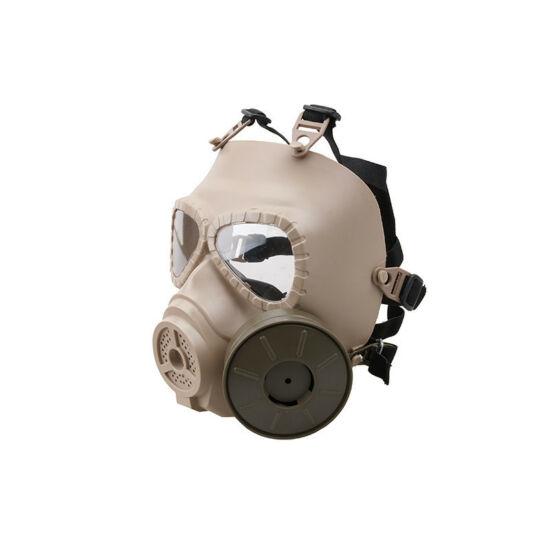 Gázálarc védőmaszk, ventillátorral, tan