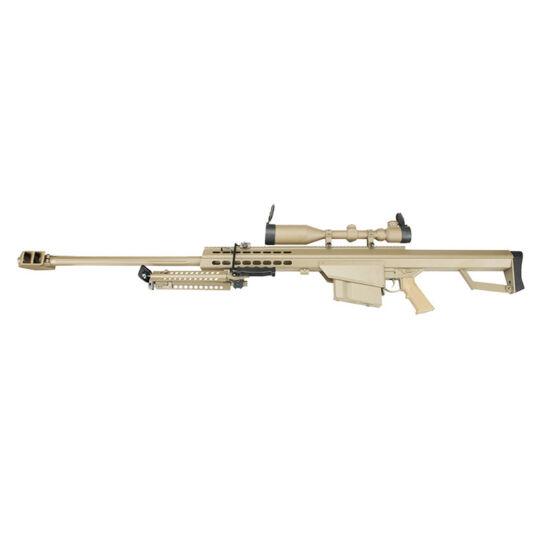 Snow Wolf SW-02A M82 Barrett elektromos airsoft mesterlövész puska tan
