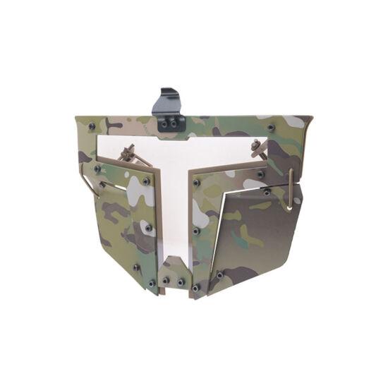 Sisakra erősíthető védőmaszk, Multicam
