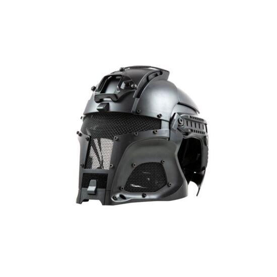 Warrior sisak rendszer, védőmaszkkal, Fekete