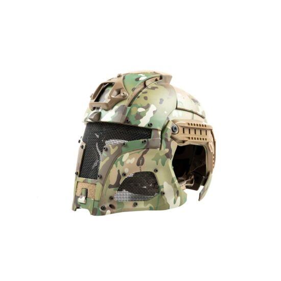 Warrior sisak rendszer, védőmaszkkal, Multicam