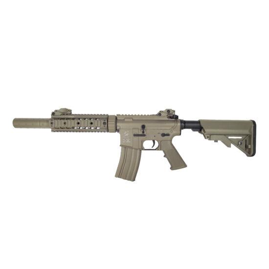 Colt M4 Silent Ops full metal elektromos airsoft rohampuska tan