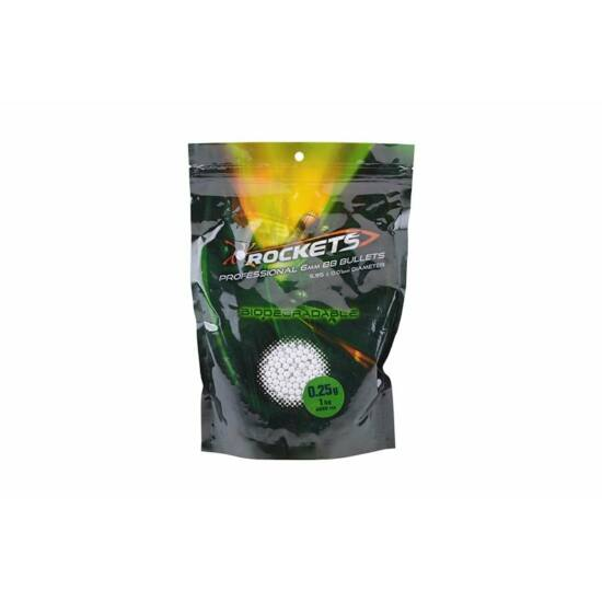 Gunfire Rockets precíziós BB, BIO, 0.25g, 1kg