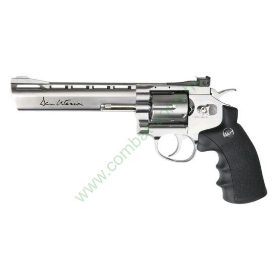 "Dan Wesson 6"" airsoft revolver, ezüst"