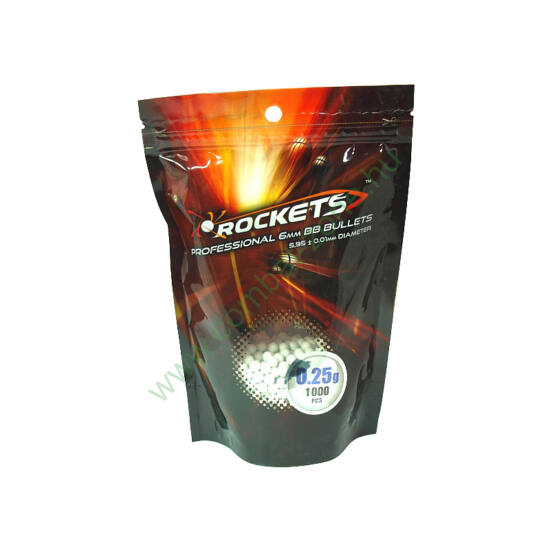 Rockets preciziós BB golyó 0.25 g, 1000 db.