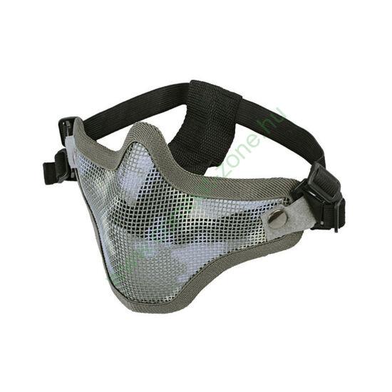 Stalker arcvédő félmaszk, rácsos, terep